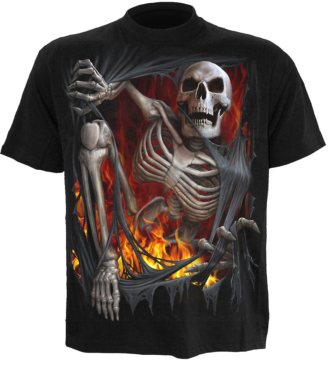 Spiral Direct Gothic DEATH RE-RIPPED - T-Shirt Black|Skeleton|UnDead|Rips|Skulls