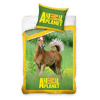 Animal Planet Veulen Single Dekbed Cover & Pillowcase Set - Europese maat