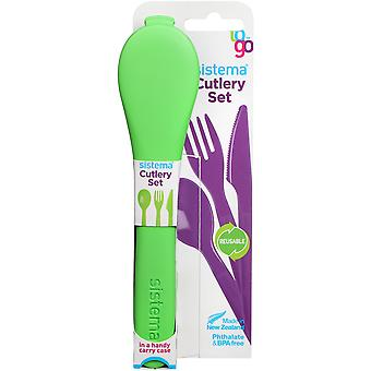Sistema Cutlery Set To Go, Lime