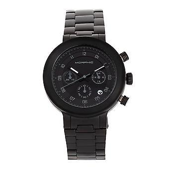 Morphic M78 Series kronograf armband klocka-svart/svart