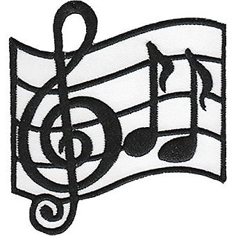 Patch - C&D - Music Themed Music Note Iron-On New Gifts Toys p-4508