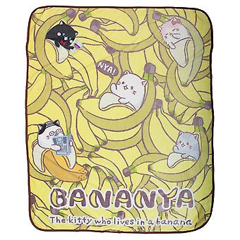 Blanket - Bananya - Digital Throw 48x60 New bz6hejcru
