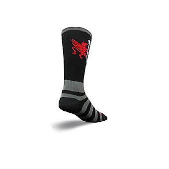 Socks - SockGuy - Lacrosse Flat Knit LAX Griffin-Black S/M Cycling/Running