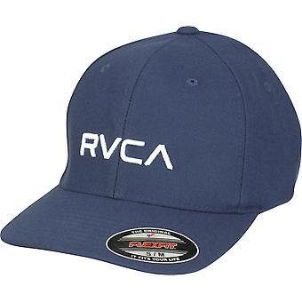 RVCA VA Sport Mens RVCA Flex Fit Hat - Navy Heather
