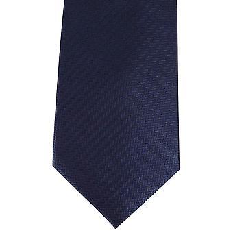 David Van Hagen Herringbone Tie - Navy