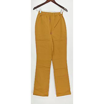 Denim & Co. leggings høj stretch støvle skåret kamel A01725