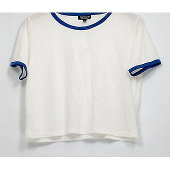 Top Shop Top Short Sleeve Detailed Tee Style White