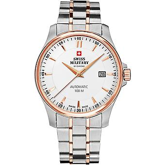 Swiss Military Watch for Unisex Analog Swiss Automatic with SMA34025.09 Stainless Steel Bracelet