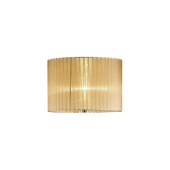Diyas Florence Round Organza Shade Soft Bronze 380mm X 260mm, Suitable For Floor Lamp