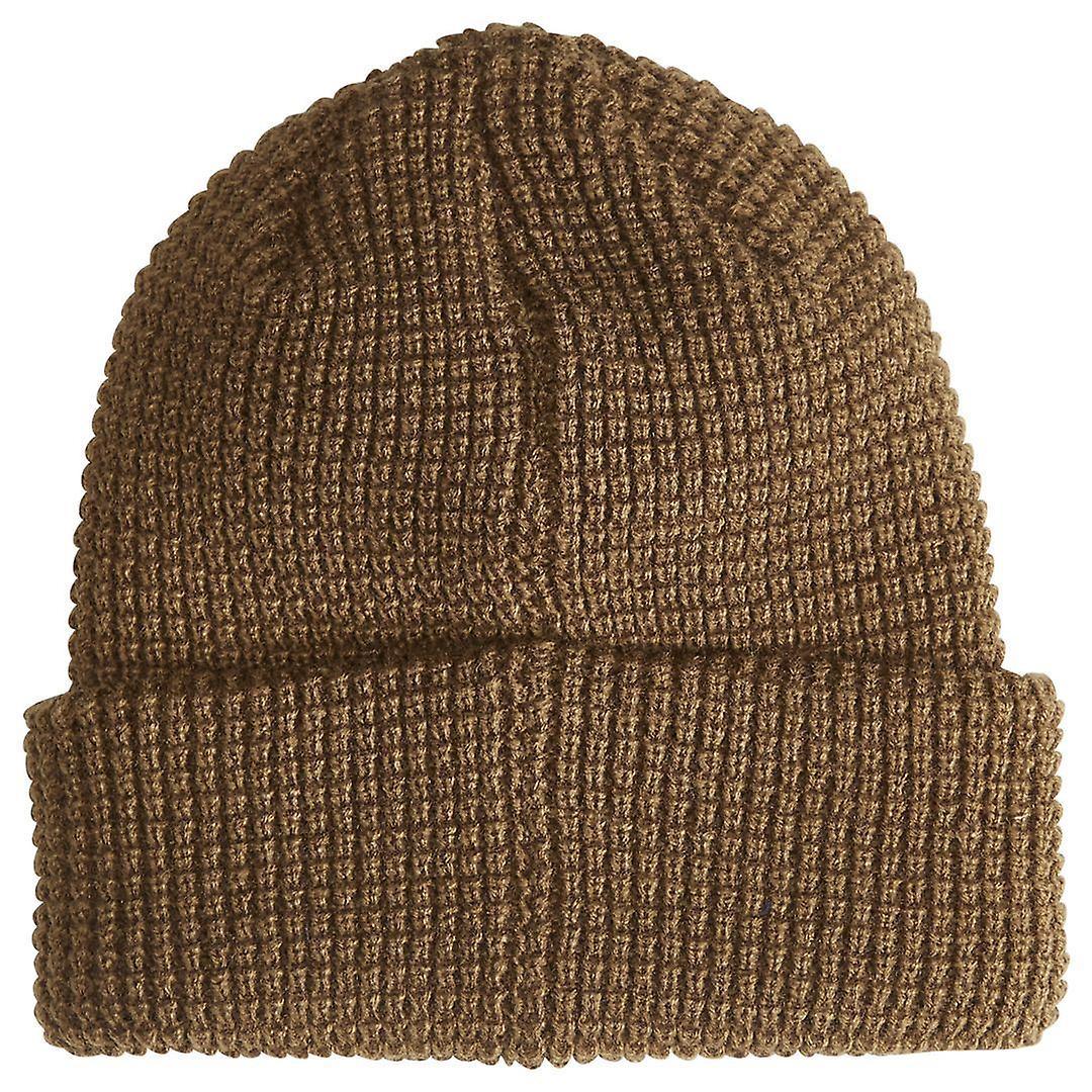 Billabong Knitted Cuff Beanie ~ Walled dk earth