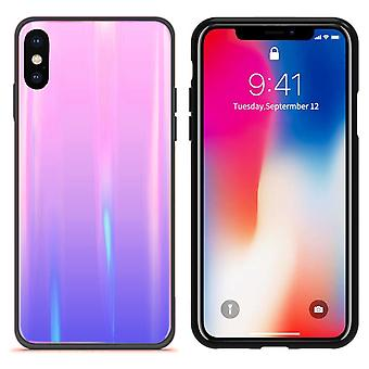 BackCover Aurora Glass for Apple iPhone X - XS Pink