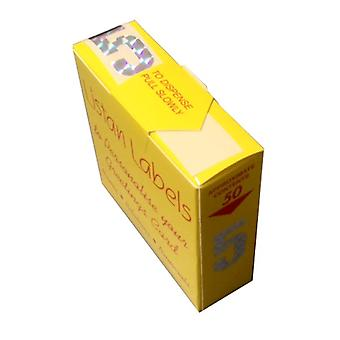 Listan Labels Yellow Box Silver Holographic Numerals