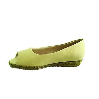 Beacon Womens Tucson Fabric Peep Toe Loafers