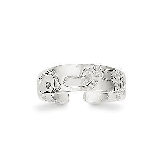 925 Sterling Silber solid Fuß Druck Zehen Ring Schmuck Geschenke für Frauen - 1,4 Gramm