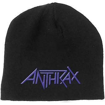 Anthrax Beanie Hat Band Logo Amongst the Living new Official Black