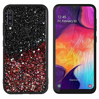 Back Cover Spark Glitter TPU + PC for Samsung A50S Red