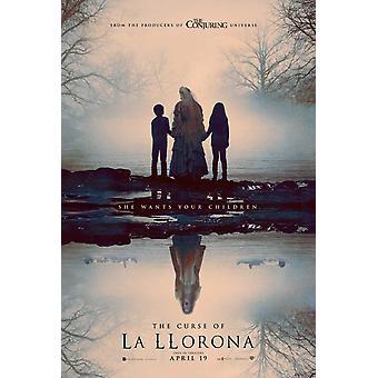 Der Fluch von La Llorona Original Filmplakat - doppelseitige Vorschuss-Stil