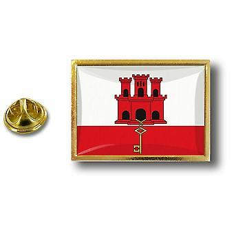 Pine PineS rinta nappi PIN-apos; s metalli Gibraltarin lipun perhonen hyppysellinen