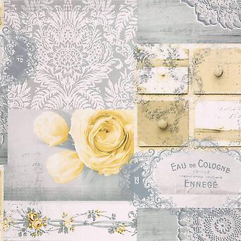 Crown Ophelia Decoupage Wallpaper