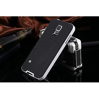 غالاكسي S5 الجدد الهجين قضية حماية قذيفة بيضاء