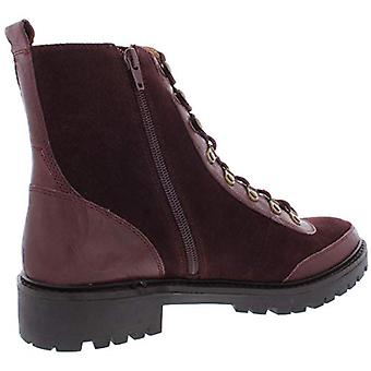 Lucky Brand Womens Ilianna Leather Wool Combat Boots Purple 9.5 Medium (B,M)
