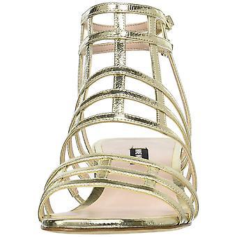 Negen West Womens Xerxes leer Open teen Casual Gladiator sandalen