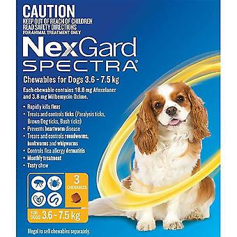 Nexgard Spectra Small 3.5 - 7.5 kg (8 - 16 lbs) - 3 pack