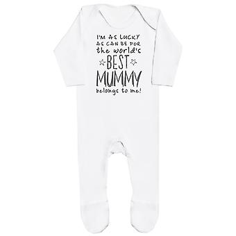 I-apos;m Comme Lucky As Can Be Best Mummy m'appartient! Bébé Romper