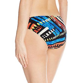 La Blanca Women's Side Shirred Hipster Bikini Swimsuit Bottom, Black/Blue/Red...