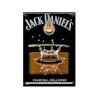 Jack Daniels kropla po kropli pocztówka Metal / Mini Zarejestruj