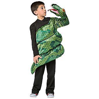 Anaconda giganten grønn slange angrep reptiler dyr barn gutter kostyme 7-10