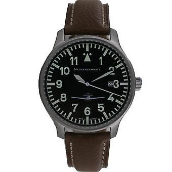 Aristo gentlemen Messerschmitt flying watch ME108-42 B leather