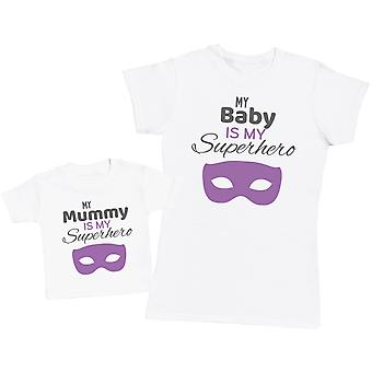 Superhero & Sidekick Mummy - Kid's Gift Set with Kid's T-Shirt & Womens's T-Shirt