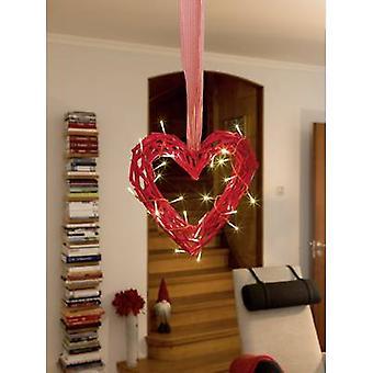 Konstsmide 6217-550 houten beeldje hart warm witte LED (monochroom) rood