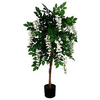 130cm Luxus künstliche Wisteria Baum weiße Blumen - Premium-Sortiment