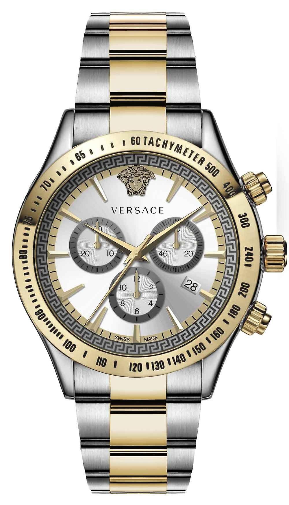 Versace Vev700519 Chrono Classic Men's Watch Chronograph 44 Mm