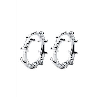 Attitude Clothing Sterling Silver Barbed Wire Earrings