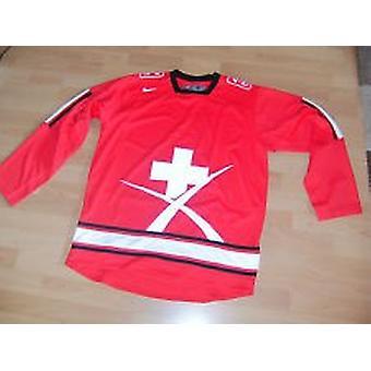 Nike IIHF Szwajcaria Jersey - Czerwony