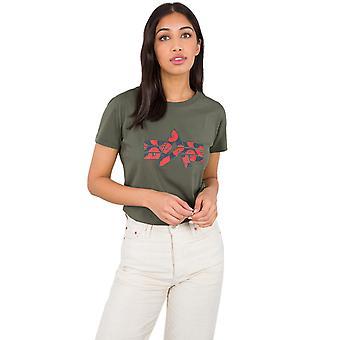Alpha Industries Women's T-Shirt Flock Flower Print