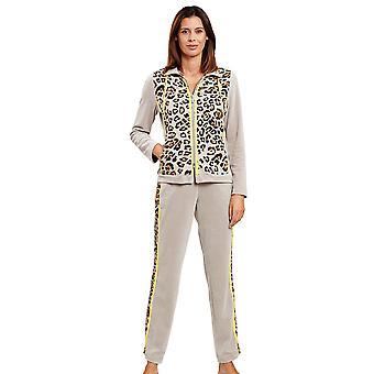 Feraud 3201066-16421 vrouwen ' s Couture bruin luipaard print Loungewear set