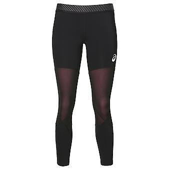 Asics 7/8 Womens Ladies Running Fitness Training Tight Black