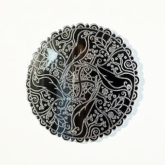 Mandala fuglesirkel gravert akryl speil