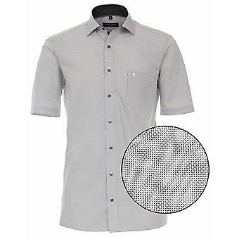CASA MODA Casa Moda Print Pattern Formal Short Sleeve Shirt