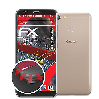atFoliX 3x Protective Film compatible with Gigaset GS280 Screen Protector clear&flexible