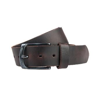 Brown Pull-Up Jeans Belt - 40 Mm Wide