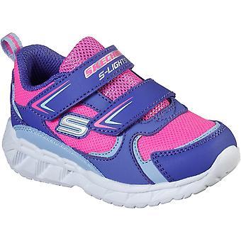 Skechers الفتيات ق أضواء ماجنا أضواء هدف أحذية الإنجازات