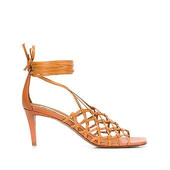 Stella Mccartney 800076n00302315 Dames's Brown Faux Leather Sandalen