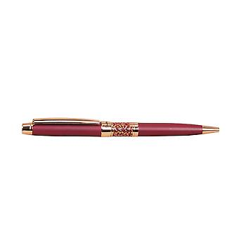 Stratton Ball Point Pen - Red Lacquer & Rose Gold Plated - A Wonderful Gift For That Special Person ST1228