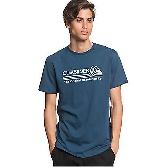 Quiksilver Stone Cold Classic Short Sleeve T-Shirt in Majolica Blue