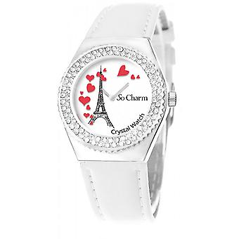 Bekijk so charm horloges MF316-COEURS-TE-BLANC - Dameshorloge